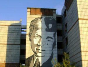 В Перми собираются снести долгострой с портретом Есенина на фасаде