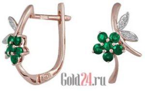 Серьги с сапфирами от интернет-магазина Gold24