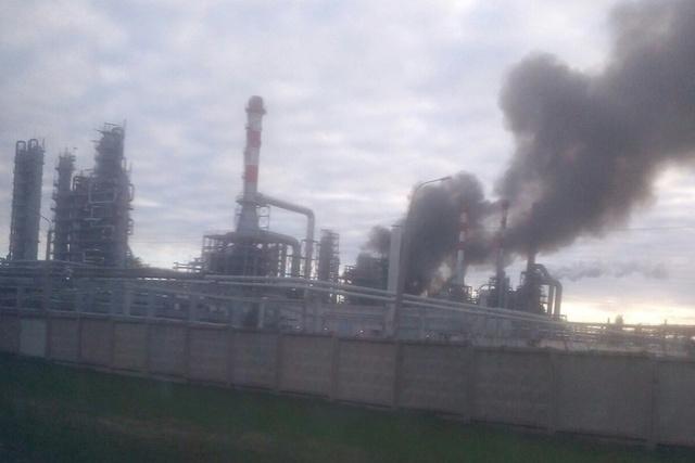 В Перми горел нефтеперерабатывающий завод