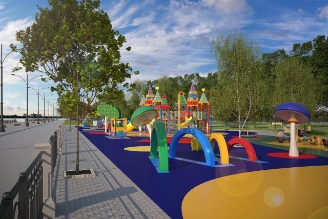 На пермской набережной откроется детская площадка