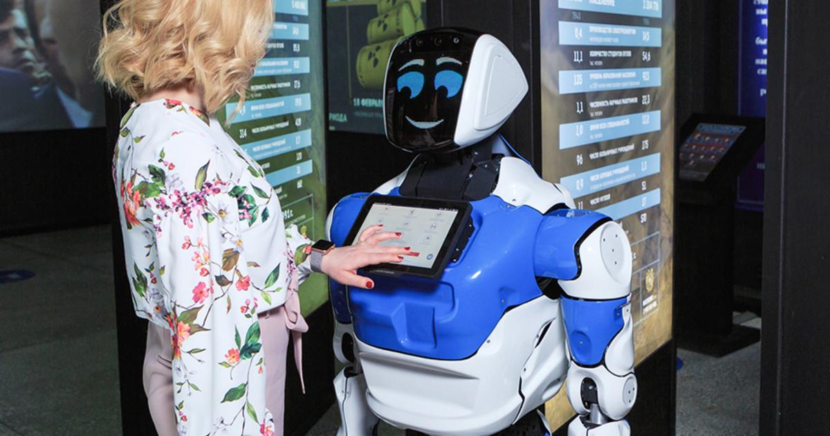Медицинского робота представила компания Promobot