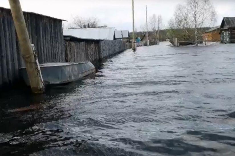 В Гайнском районе – рекордное подтопление