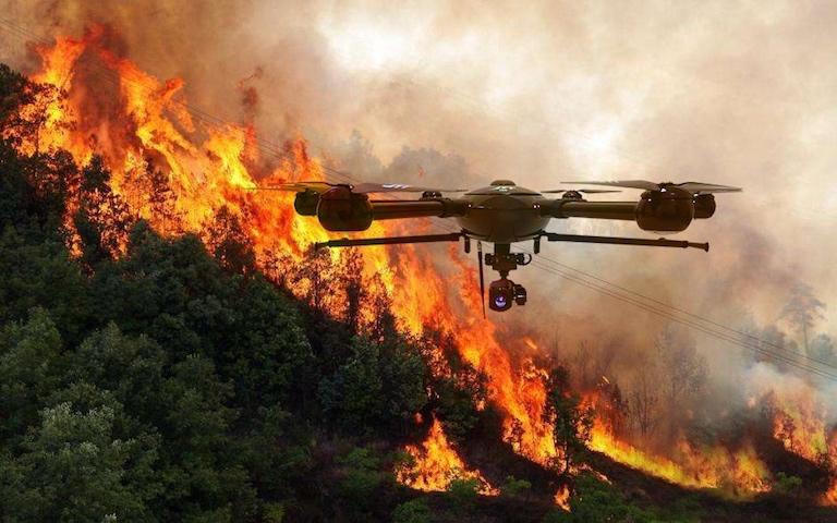 С пожарами в Пермском крае будут бороться с помощью дронов