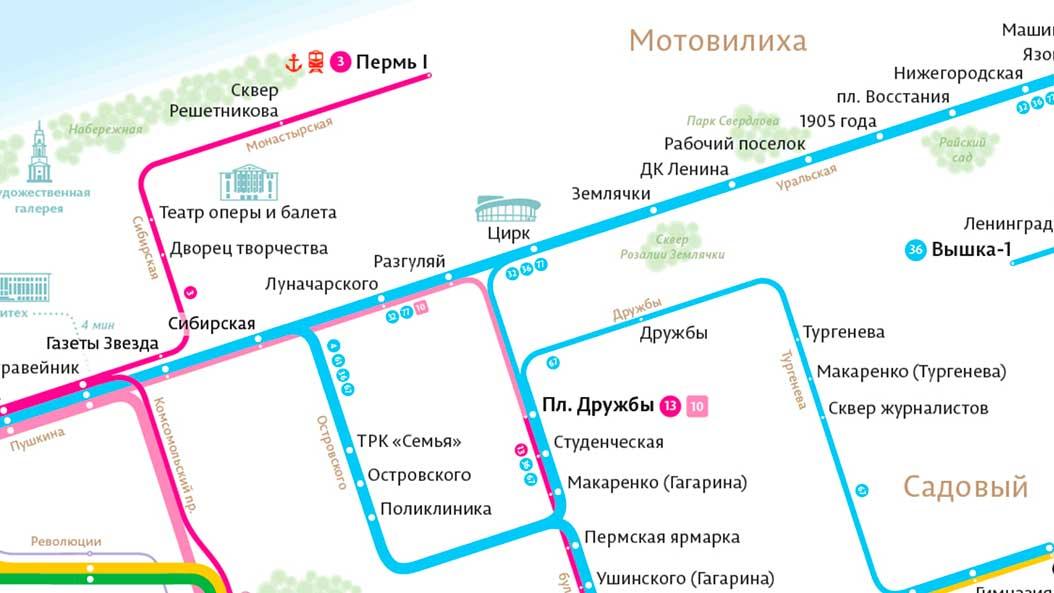 Глава Перми заинтересовался дизайнерской транспортной схемой