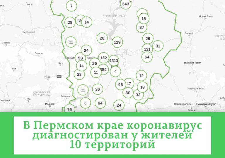В 37 муниципалитетах Прикамья выявлен коронавирус