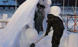 Победу в конкурсе снежной скульптуры одержали пермяки
